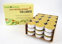 36 Hand Poured Beeswax Tea-Light Candles in NATURAL - Metal Cups and Chemical Free Cotton Wicks - 100% Beeswax Candles by Toadily Handmade Beeswax Candles -- Visit the image link more details.
