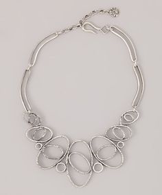 Take a look at this Silver Koleen Necklace by Potluck Paris on #zulily today!
