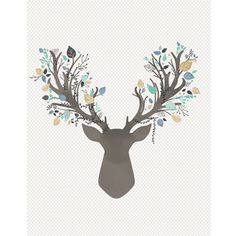 Hawthorne Threads - Fawn - Stag Quilt Panel in Aspen