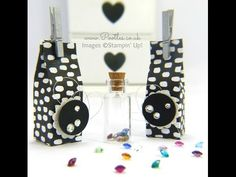 South Hill Designs & Stampin' Up!  TINY Gem Jar Box Tutorial