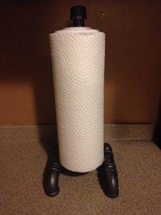 Industrial black pipe paper towel holder by CUTTINGEDGECRAFTSMEN