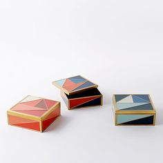 Graphic Enamel Tile Box | West Elm