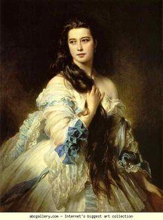 Franz Xaver Winterhalter. Portrait of Mme. Rimsky-Korsakova.