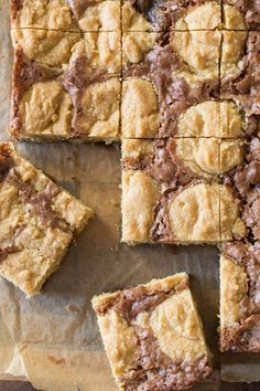 Peanut Butter Cookie Brownies - An easy homemade brownie batter studded with globs of peanut butter cookie dough for a chocolate peanut butter lovers dream come true.