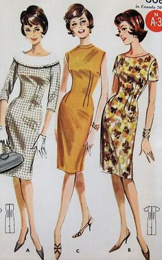 Vintage Sheath Dress Sewing Pattern UNCUT Butterick 2137 Size