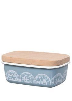 Image of Enamelware Butter Dish - Chalkhill Blue