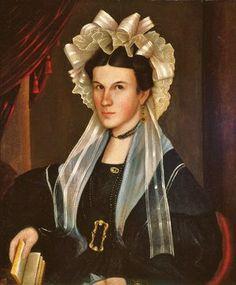 """John S. Blunt (American artist, 1798–1835) Mrs Miller of Newton, New Jersey c 1830"""