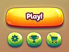 Cartoon mobile game GUI kit - concept