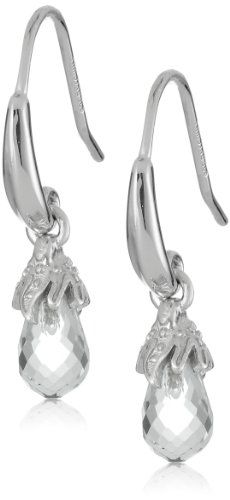 Sterling Silver Green Amethyst Briolette Dangle Earrings ** Want to know more, click on the image.