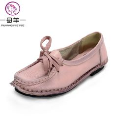 Best Women s Handmade Shoes Genuine Leather Flat Lacing Mother Shoes Woman Loafers Soft Single Casual Shoes. Click visit to read descriptions