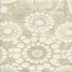 Garden Craft Dove Gray Floral Cotton Drapery fabric by P Kaufmann - SW45907 - Fabric By The Yard At Discount Prices