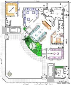 خرائط بيت المستقبل مخطط 2 فيلا دورين Beautiful House Plans Model House Plan Home Map Design