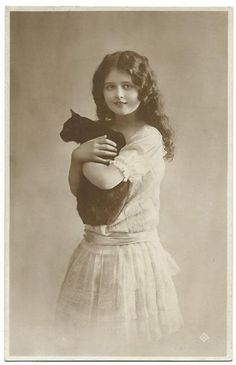Vintage with cat