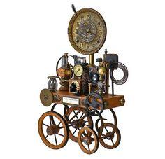 Clock on Wheels - Klockwerks by Roger Wood
