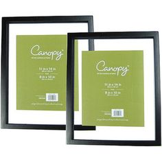 canopy float picture frame black set of 2 for our wedding photos - Float Frame
