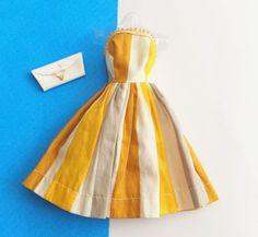 Vintage Barbie Babs Mitzi Wendy Clone Dress W/ White Barbie Clutch Purse