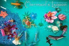 mermaid sensory bin