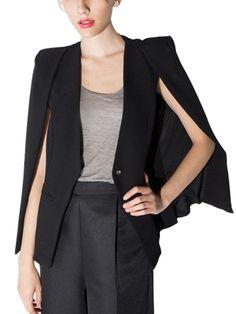 Walkingon Fashion Womens #Split #Sleeve Casual Cape Open Front Cloak #Blazers