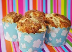 High-top apple cinnamon muffins.