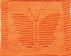 Knitting Cloth Pattern - BUTTERFLY - PDF