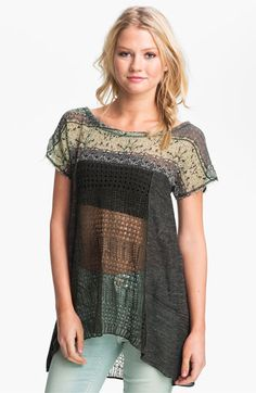 Free People Call Me Flower Mix Media Tunic available at Nordstrom