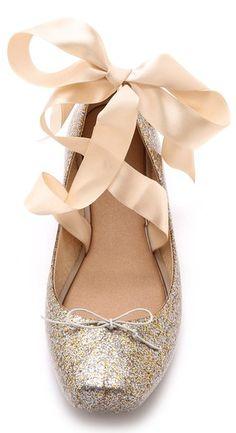 adorable lace up ballet flats