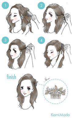 Si no sabes cómo hacer un peinado con peineta esto es para ti