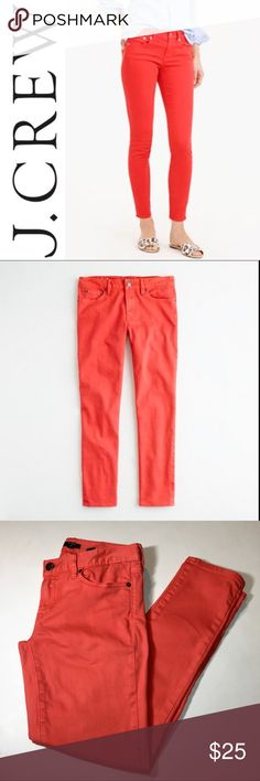 """J. Crew Garment Dyed Toothpick Ankle Jeans ✔️99% Cotton•1% Spandex ✔️Ankle Inseam: 27.5"""" ✔️No Holes, Stains or Damages J. Crew Jeans Ankle & Cropped"""