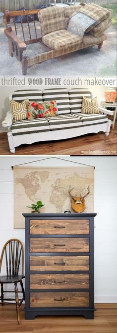 Here are 20 of the BEST old Furniture Makeover Ideas you have to see for yourself Old Furniture, Repurposed Furniture, Furniture Makeover, Good Old, Diy, Inspiration, Ideas, Biblical Inspiration, Bricolage