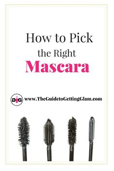 Great makeup artist tips on how to pick the right mascara. Want to know which mascara is best for your eyelash type? Read more to find out great makeup artist tips. Best Makeup Tips, Makeup Guide, Best Makeup Products, Makeup Ideas, Makeup Tricks, Makeup Inspiration, Beauty Secrets, Beauty Hacks, Beauty Tips