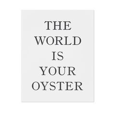World is Your Oyster Art Print from Smitten for the Wee Generation