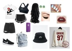 """""""First day of school outfit"""" by alexagamez on Polyvore"""