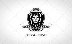 Royal Lion Head Logo For Sale #logo #logos #mascot #animal #animals #cute #dog #vector #design #website #webdesign #lion #king #tiger #royal #wild #simba logos for sale