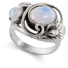 Rainbow Moonstone Ring ($100) ❤ liked on Polyvore featuring jewelry, rings, boho jewelry, goth rings, boho style jewelry, boho jewellery and bohemian jewelry