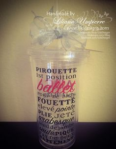 #personalized #ballet #tumbler by #LikiDesigns