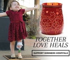 www.julies.scentsy.us Together Love Heals. Scentsy will donate $8 from each sale of Love Heals Warmer to Shriners Hospitals for children.