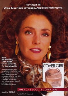 1990 Cover Girl ad featuring Jennifer O'Neill