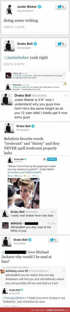 Drake bell, oh you're too awesome