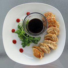 pork potstickers. #asianfood #pork