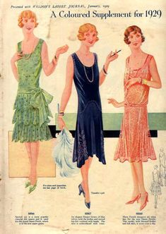 Culture/Economics: Women in 1920s. They were showing their legs and low cut dresses. This advertisement also led to Consumer Culture of buying excess and spending more than necessary.