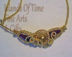 Rich Red and Gold Wire Handmade Necklace