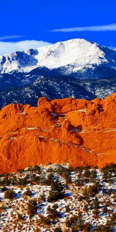 Pikes Peak Mountain, Colorado USA