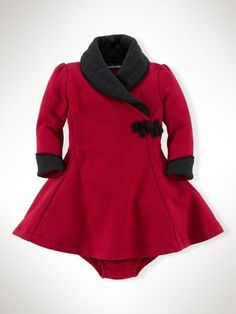 Fleece Tuxedo Dress - Infant Girls Dresses & Rompers - RalphLauren.com