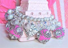 Beaded bracelet  Exotic charm bracelet  by sparklecityjewelry, $48.00
