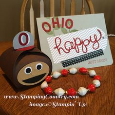 Ohio State Paper Crafts, Brutus Curvy Keepsake Box, Crazy About You, Hello You, Stampin' Up!