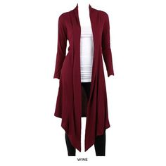 Ribbed Open-Front Long Hacci Cardigan - Assorted Colors at 79% Savings off Retail!