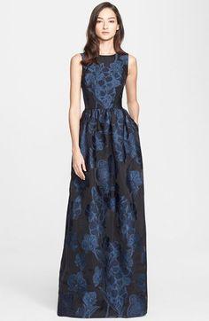 St. John Collection Floral Fil Coupé Gown