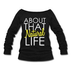 dccc7a80 About that Natural Life Wide Neck Off Shoulder Slouchy Women's Sweatshirt -  Black