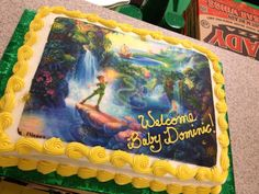 Peter Pan Cake for Baby Not quite as cool as the Hook's ship but really cute!