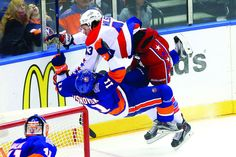 Islanders take exception to Wilson's hit on Visnovsky
